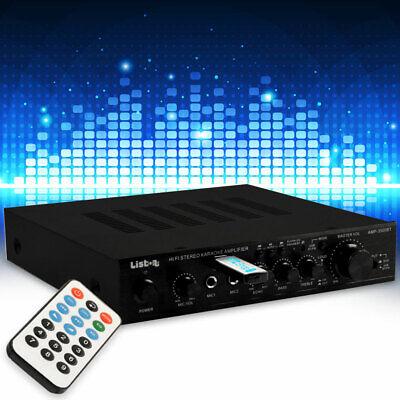 Dj Amplificador Karaoke 170W USB MP3 Bluetooth Mando a Distancia Cine en...