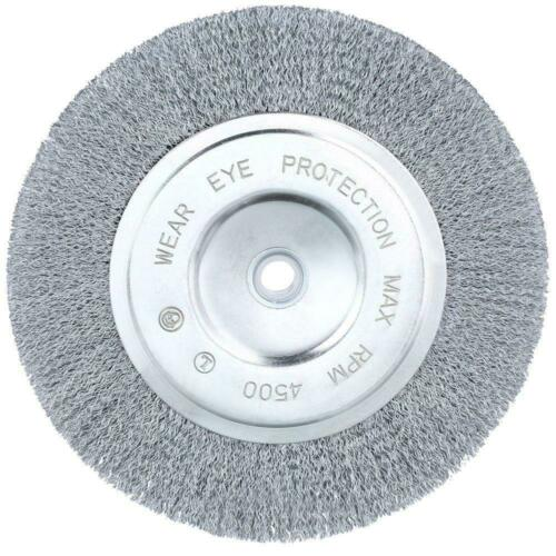 Wire Wheel Brush 8 Inch Coarse Bench Grinder Metal Polishing Tool Accessory