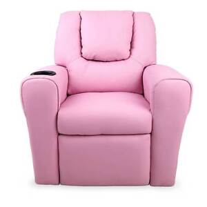 FREE SHIPPING - Kids Padded PU Leather Recliner Chair  - Pink Melbourne CBD Melbourne City Preview