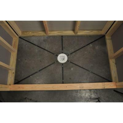 Shower Floor Pan (Pre-Pitch Installation Kit Custom Pitch Shower Pan Slope Liner Drain Sub)