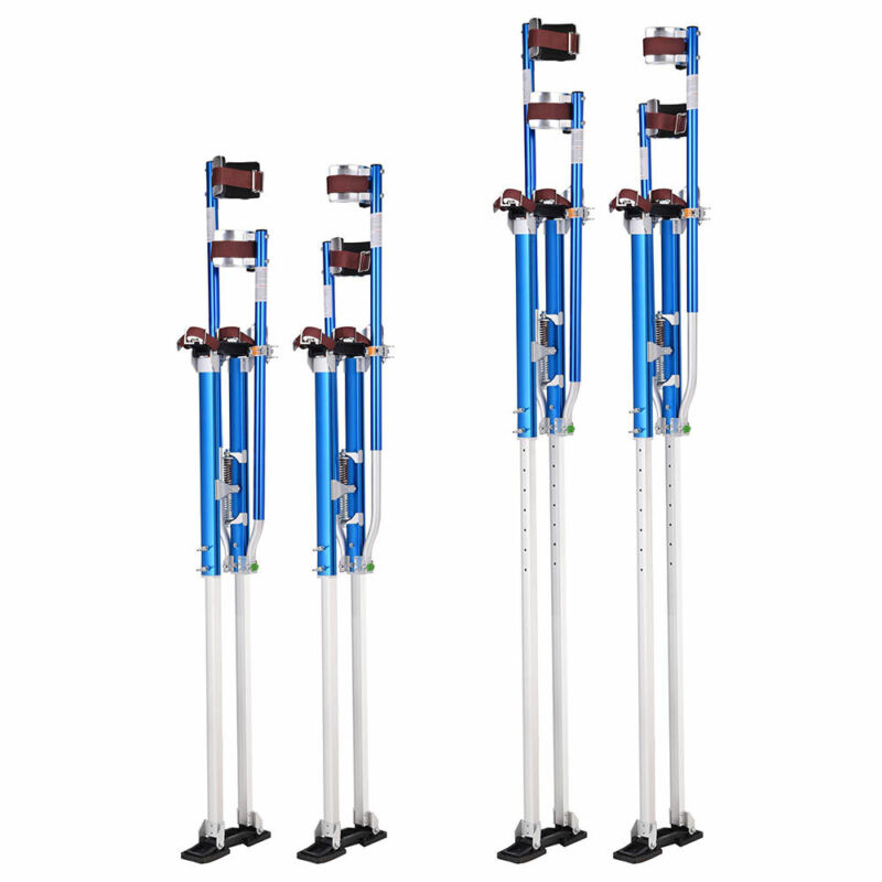 "Aluminum Blue Drywall Stilts 50"" - 64"" Adjustable for Painting Painter Taping"