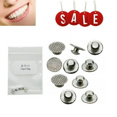 Dental Supplies Orthodontic Ortho Lingual Buttons For Bondable Round Base 10pcs