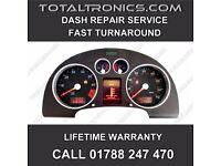 AUDI TT A3 A4 A6 INSTRUMENT CLUSTER SPEEDO DASH REPAIR SERVICE LCD REPLACEMENT FUEL GAUGE