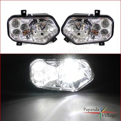 2x LED Headlight High/Low Beam For Polaris RZR XP & RZR 800 900 Sportsman Ranger