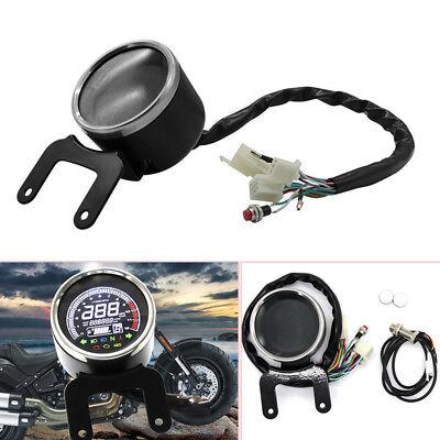 Universal Motorcycle Digital LED LCD Odometer Speedometer Tachometer Speed Gauge