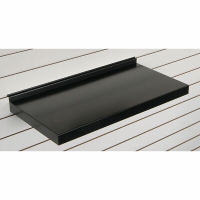 24w Metal Slatwall Shelf Black