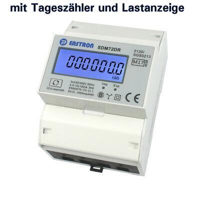LCD Stromzähler NEU MID18 S0 Drehstromzähler mit Tageszählfunktion geeicht 2018