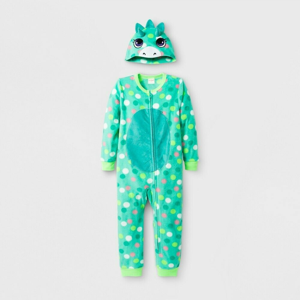 Toddler Girls' Dino Blanket Sleeper – Cat & Jack Iridescent Green Size 2T Baby