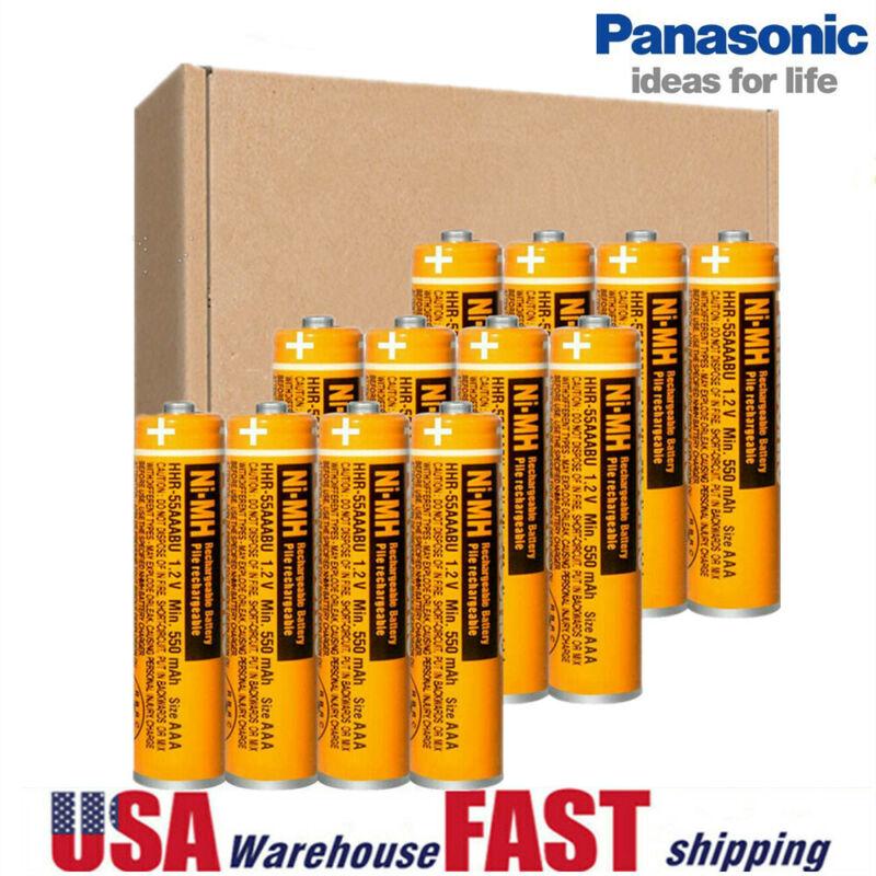 Panasonic NI-MH AAA Rechargeable Battery 550mah 1.2V Cordless Phones Batteries