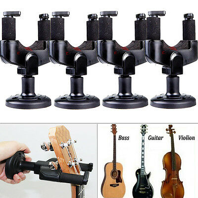 4PCS Guitar Hanger Stand Holder Hook Wall Mount Display Acoustic Electric Bass
