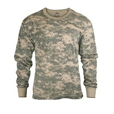 (ACU Digital Camouflage LONG SLEEVE T-Shirt Hunting Camo US Army Combat Uniform)
