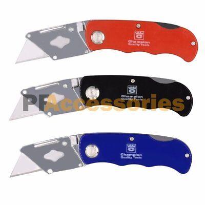 Folding Lockback Utility Pocket Knife Box Cutter with 5 Extr