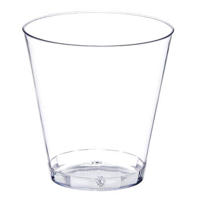 Bulk Glass Cups (50ct. 2 oz Clear Hard Plastic Shot Glasses Bar Catering Disposable Cups)