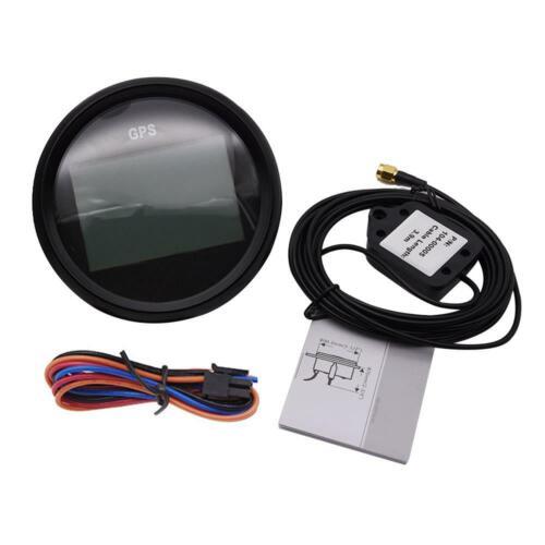 85mm Black Gps Digital Speedometer Odometer Gauge For Car