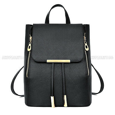Women Lady Leather Backpack Handbag Girls Shoulder Travel School Bag Rucksack