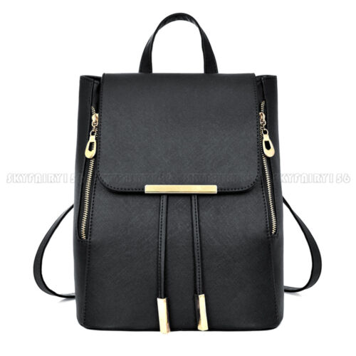 Women Lady Leather Backpack Handbag Girls Buckle down associate with Travel School Bag Rucksack