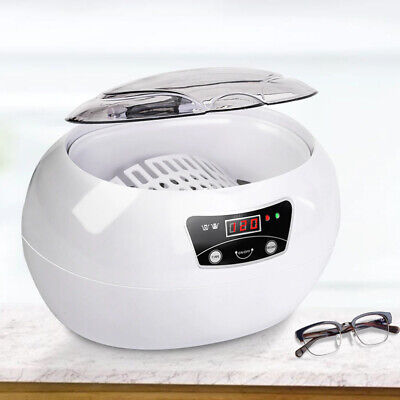 600ml Ultrasonic Cleaner Bath Timer For Jewelry Parts Dental Razor Brush Glasses