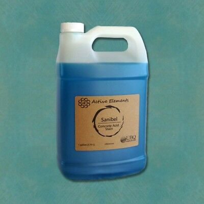 Official concrete acid stain interior concrete jobs light blue 1 gallon Sanibel Blue Acid Stain