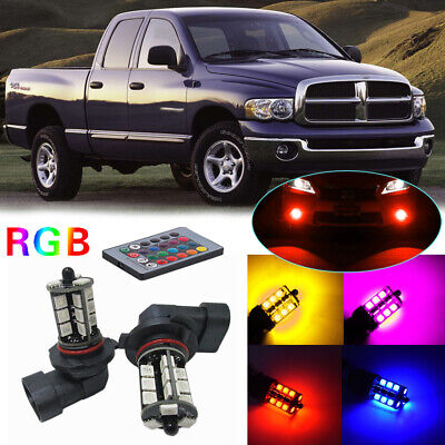 Used, For Dodge Ram Pickup 2003-2008 Wireless IR Remote Multi-Color RGB LED Fog Lights for sale  Los Angeles