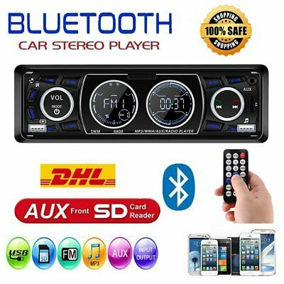 AUTORADIO BLUETOOTH USB MP3 MEDIA PLAYER AUX RADIO TUNER 1DIN 2xLCD FARB DISPLAY (Media Player Autoradio Bluetooth)