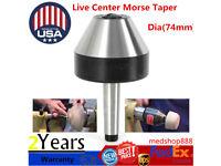 5/'/' 120mm MT2 Bull Nose Lathe Live Center Morse Taper #2 Tool Bit 75 Degree US