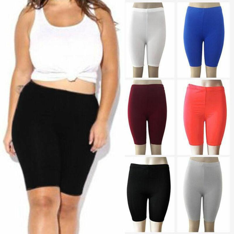New Cotton Leggings 1//2 Length Women Shorts Sport Running Pants Sizes UK 8-18