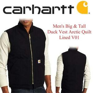 NEW Carhartt Mens Big  Tall Duck Vest Arctic Quilt Lined V01 Condtion: New, XXX-Large, Black