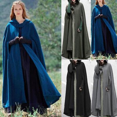 Frauen Lose Wolle Poncho Warme Mantel Jacke Langen - Lange Capes