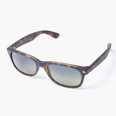 Ray-Ban New Wayfarer RB2132 894/76 Tortoise/Pol.Blue-Green Grad. Sunglasses 52mm