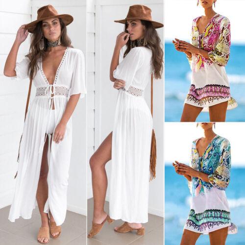 Ladies Beach dress Cover up Kaftan Sarong Summer wear Swimwe