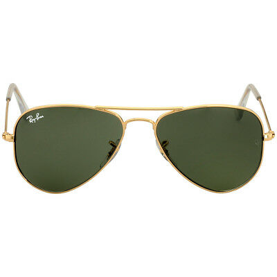 Ray-Ban Aviator Small Metal Frame Green Lens Unisex Sunglasses RB3044