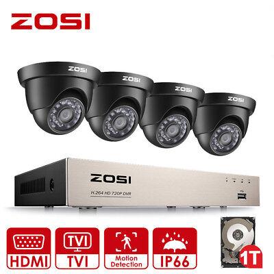ZOSI 8CH 1080N DVR 720P CCTV Home Security Camera System Surveillance 1TB HD Kit
