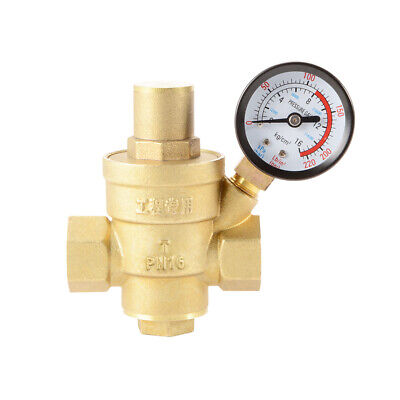 Dn20 34 Adjustable Brass Water Pressure Reducing Regulator Valvesgauge Hs1060