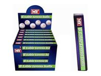 M.Y table tennis balls. ping pong balls x 6 in a box