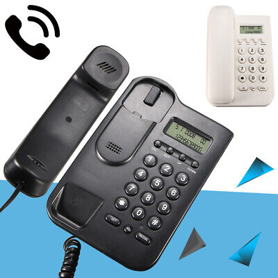 Wall Mounted Corded Home Office Landline Table Phone With Caller ID Desktop US (Wall Mounted Landline Phones With Caller Id)