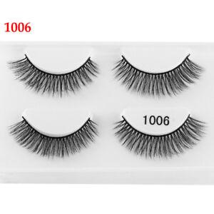 ac55d6b898d SKONHED 3D Mink Hair False Eyelashes Wispy Cross Lashes Fluffy Lashes -Extension-