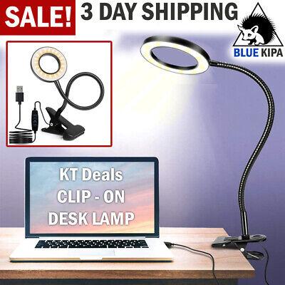 Flexible Neck Light Clip on USB Charge 2//4 LED Book Lamp Reading Desk Light UK
