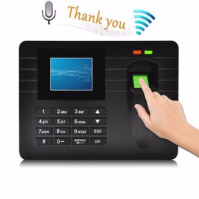A5 Tft Punch Attendance Usb Password Fingerprint Time Recorder Clock Employee