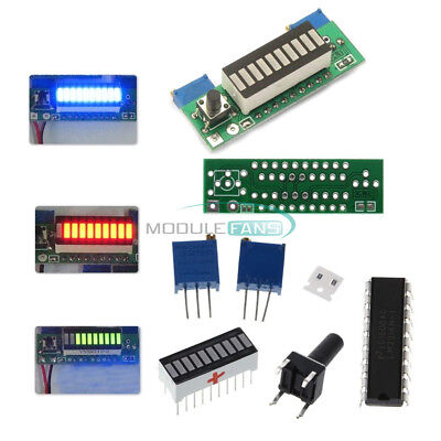 Lm3914 3.7v Lithium Battery Capacity Indicator Module Redgeenblue Led Display