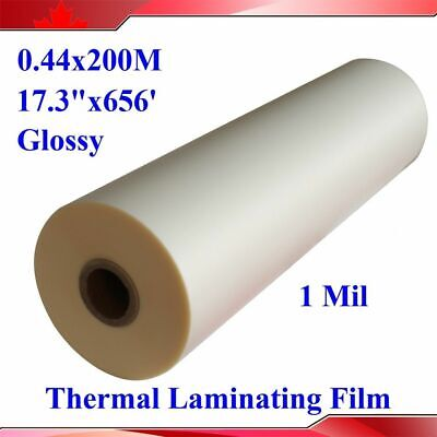 Glossy 17.3x656 Uv Luster Thermal Laminating For A2 Size Laminator1 Roll