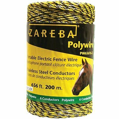 Pw656y6-z Polywire 200-meter 6-conductor Portable Electric-fence Rope