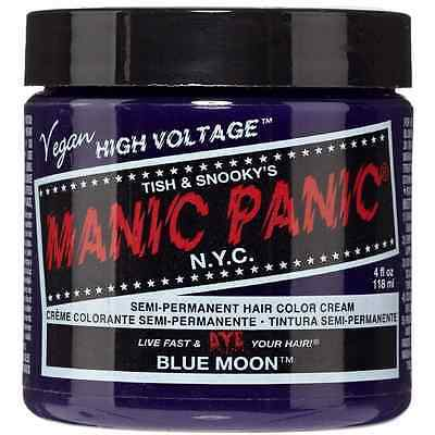 Manic Panic Semi-Permanent Hair Color Cream, Blue Moon 4 oz