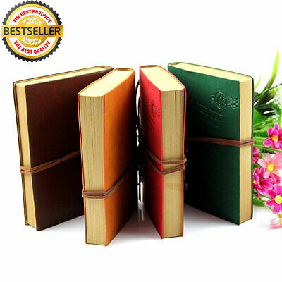 Vintage Retro Diary Notepad Notebook PU Leather String Bound Journal Travel Book