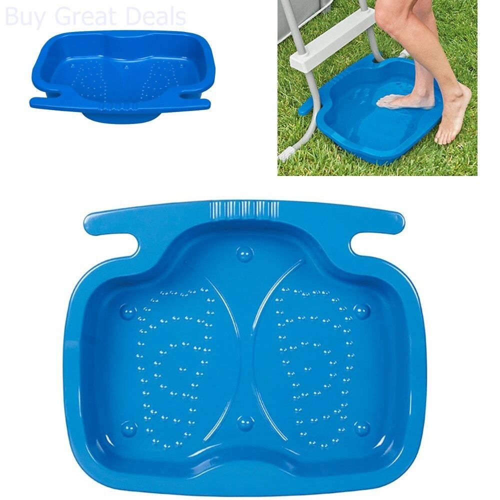 Details about Intex Foot Bath for Pool Ladders on Above Ground Swimming  Pools