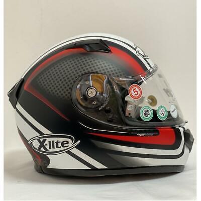 X-Lite X661 Slipstream Helmet Matt Black/Red Full Face Motorcycle Bike Lid Large 661 Full Face Helmet