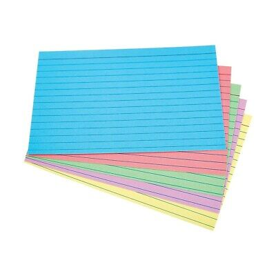 Staples 4 X 6 Line Ruled Assorted Pastel Index Cards 100pack 51015 730755