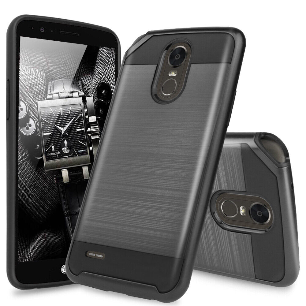 for-lg-stylo-3-plus-stylo-3-shockproof-brushed-armor-hard-phone-case-cover