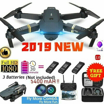 E58 2.4GHz RC Drone FPV Wifi 4K HD Camera 6-Axis Foldable Quadcopter + Battery