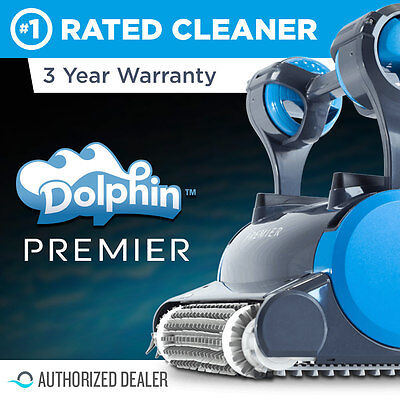 Dolphin Premier Robotic Pool Cleaner with Oversized Bag - New
