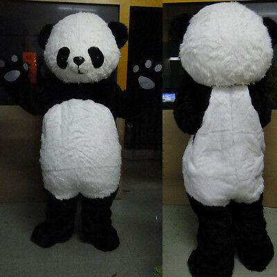Professional Panda Bear Outfit Mascot Costume Adult Size Fancy Dress For Party](Panda Costumes For Adults)
